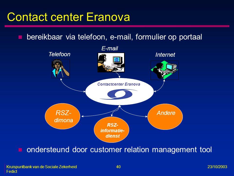 Contact center Eranova