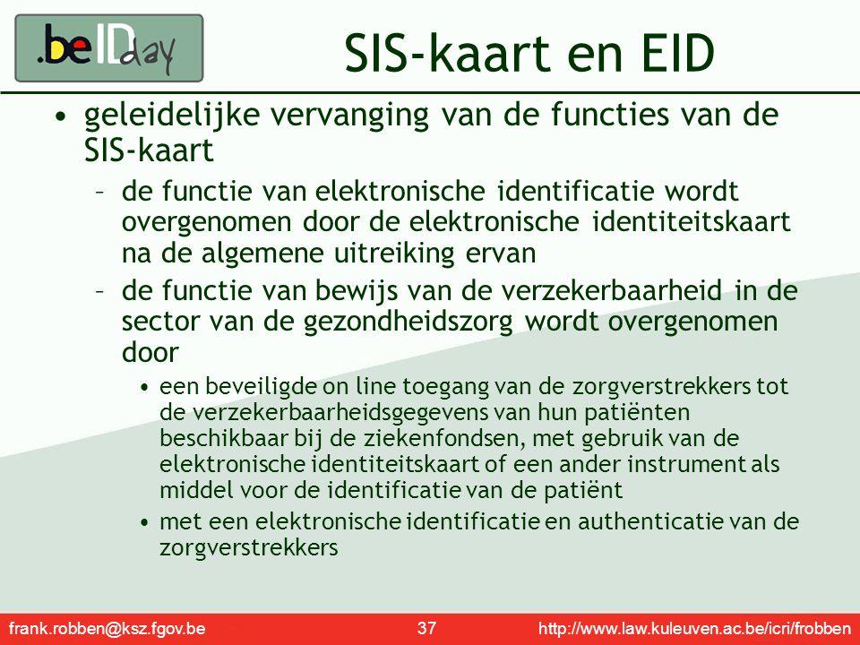 SIS-kaart en EID geleidelijke vervanging van de functies van de SIS-kaart.