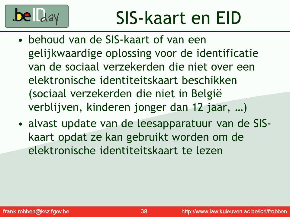 SIS-kaart en EID