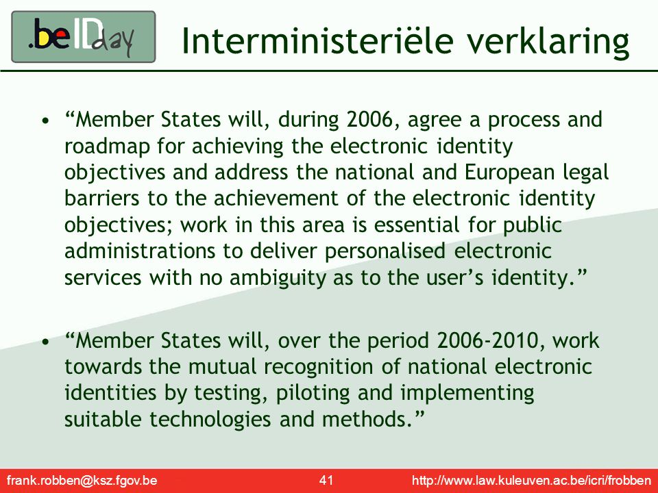 Interministeriële verklaring