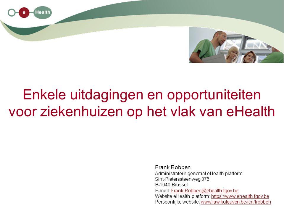 Enkele uitdagingen en opportuniteiten voor ziekenhuizen op het vlak van eHealth