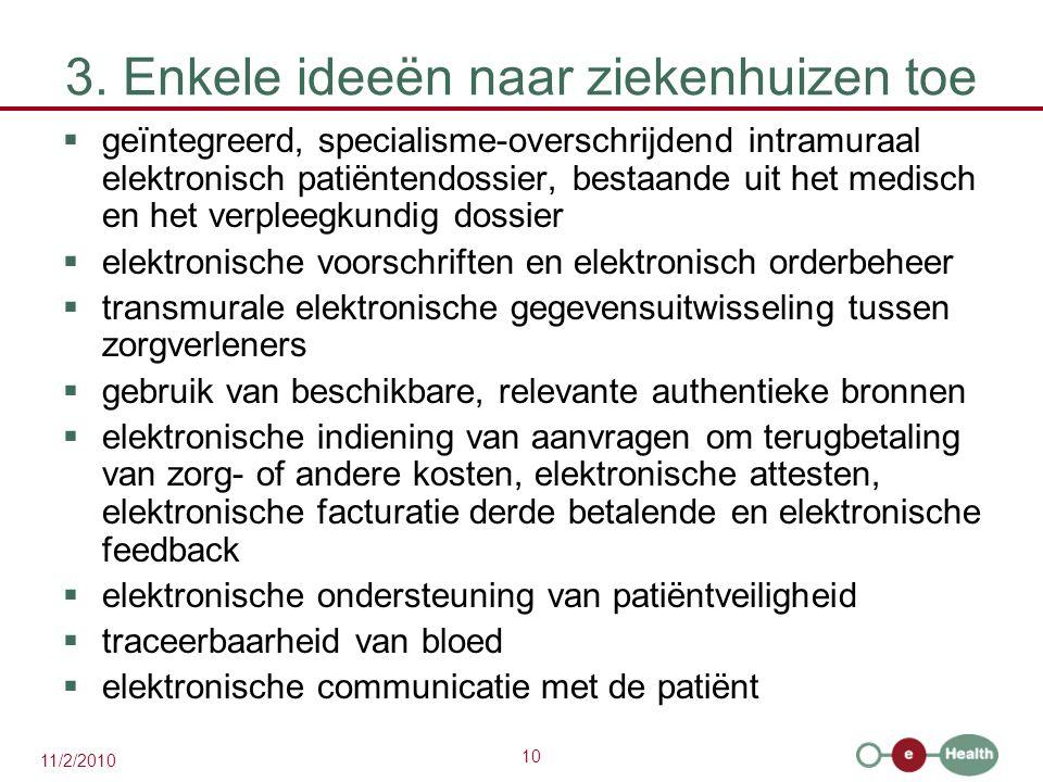 3. Enkele ideeën naar ziekenhuizen toe