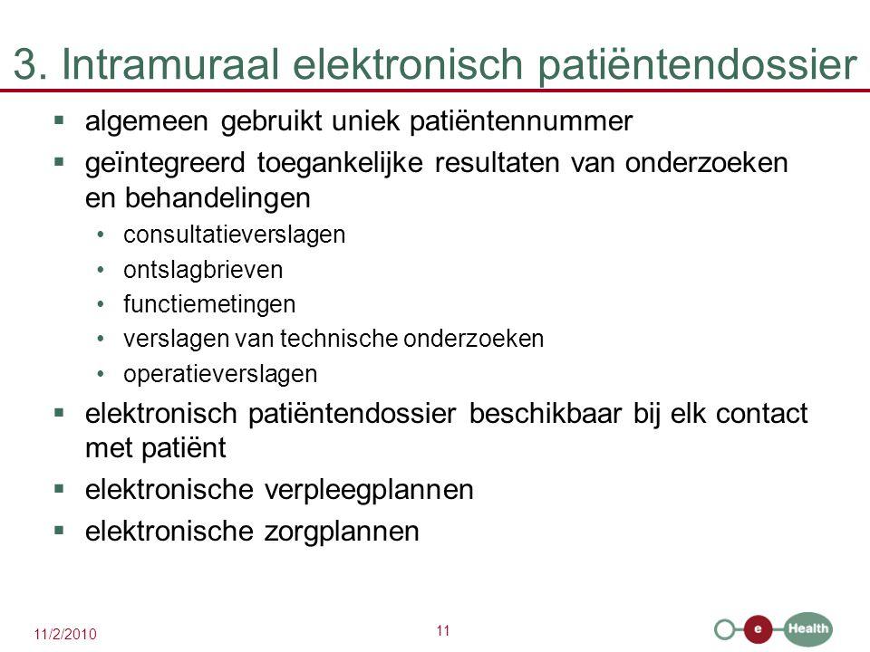 3. Intramuraal elektronisch patiëntendossier