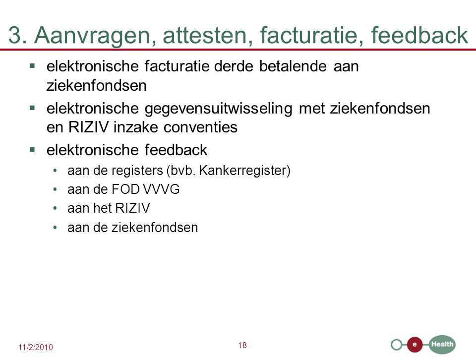 3. Aanvragen, attesten, facturatie, feedback