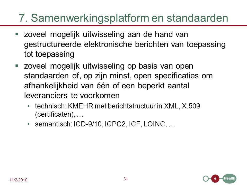 7. Samenwerkingsplatform en standaarden