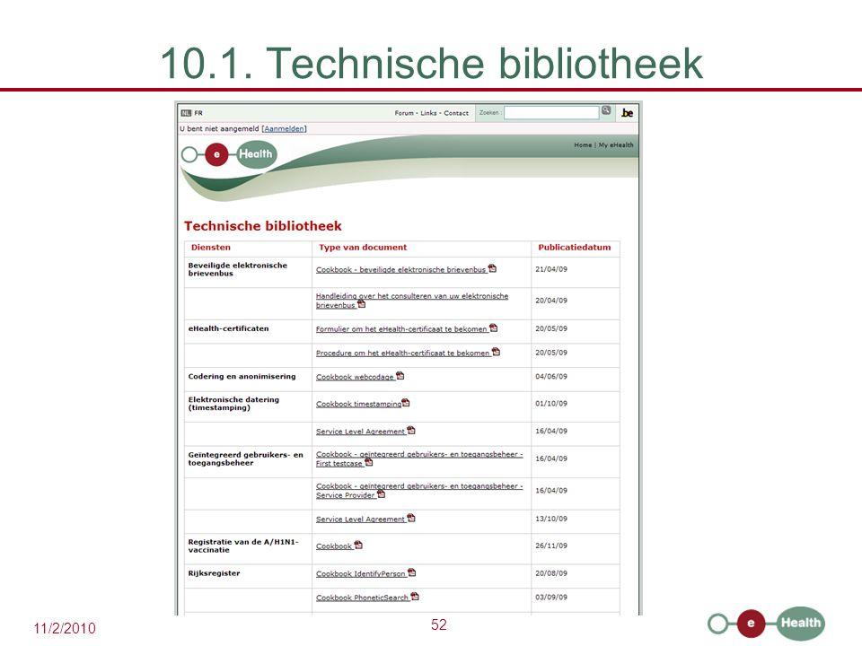 10.1. Technische bibliotheek
