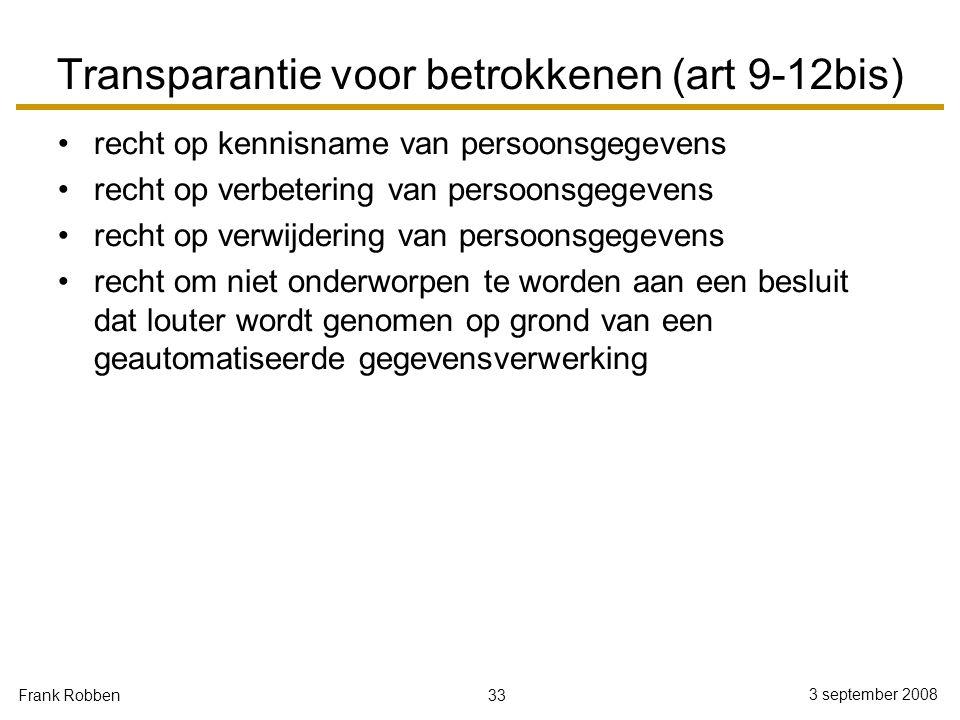 Transparantie voor betrokkenen (art 9-12bis)