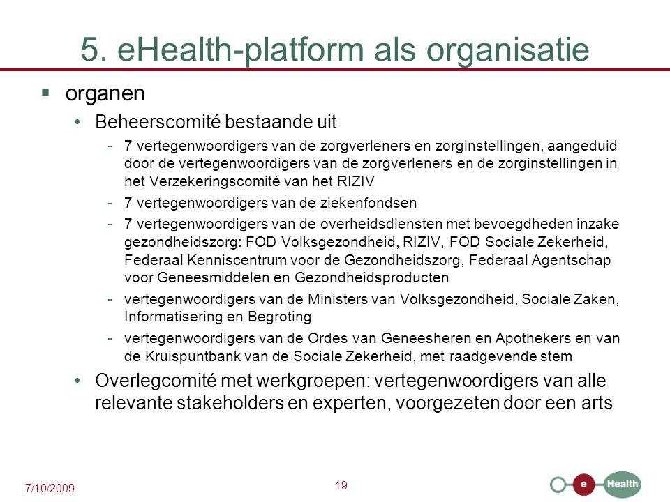 5. eHealth-platform als organisatie