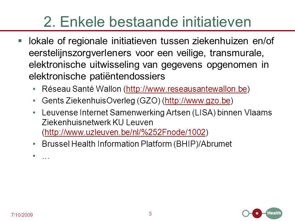 2. Enkele bestaande initiatieven