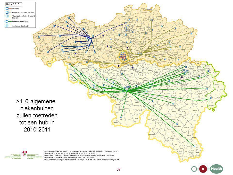 >110 algemene ziekenhuizen zullen toetreden tot een hub in 2010-2011