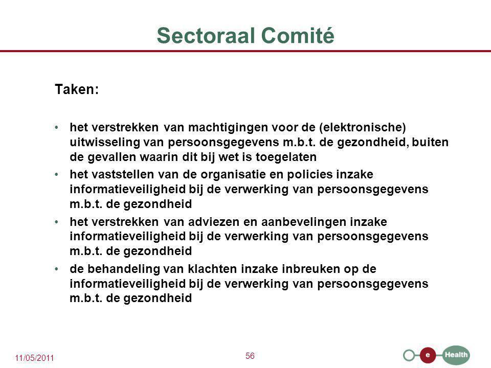 Sectoraal Comité Taken: