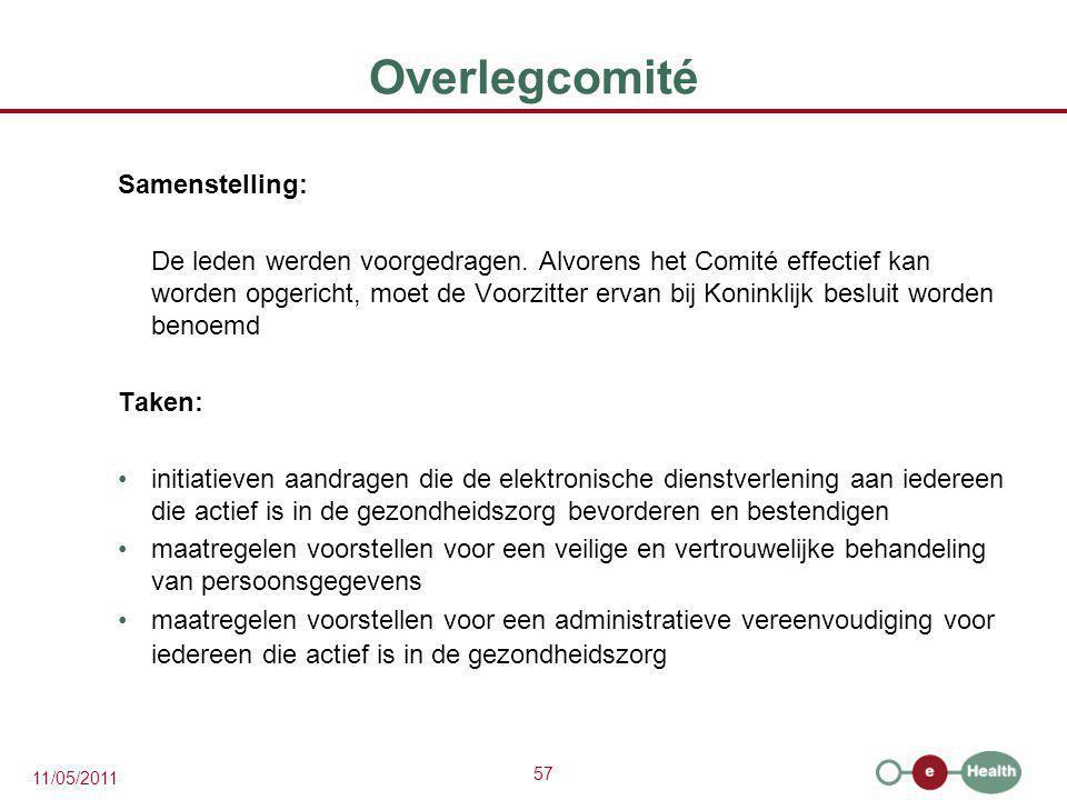 Overlegcomité Samenstelling: