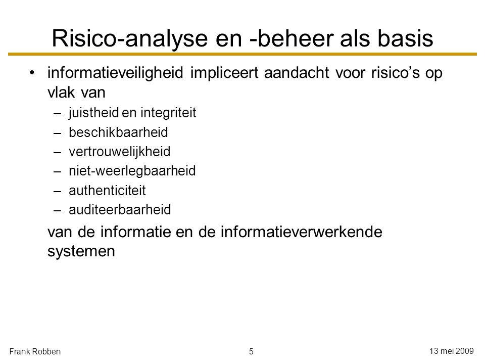 Risico-analyse en -beheer als basis