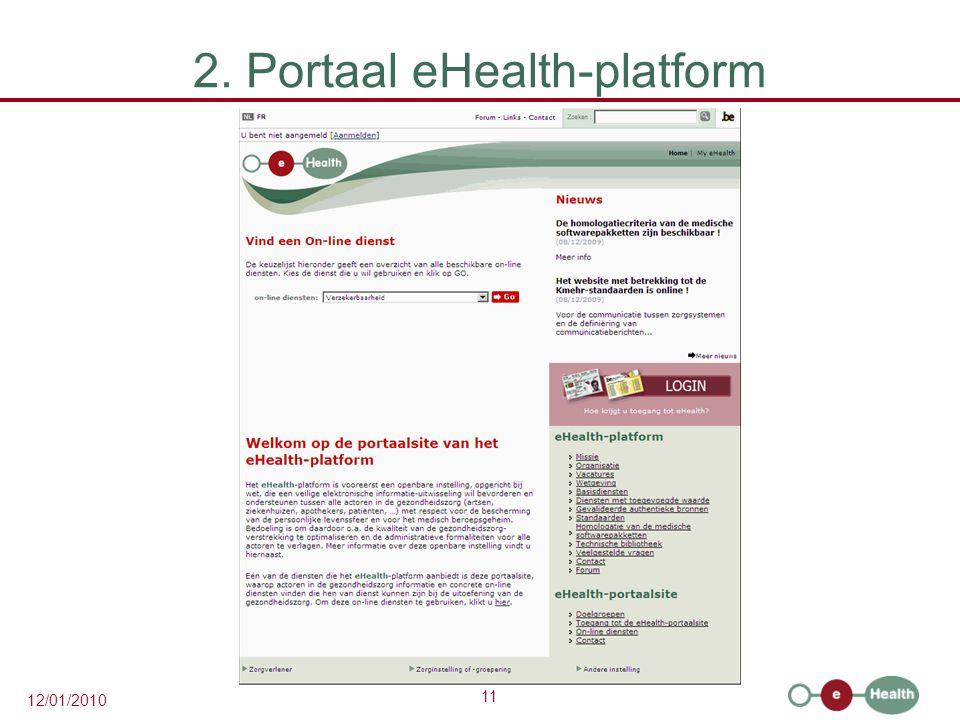 2. Portaal eHealth-platform