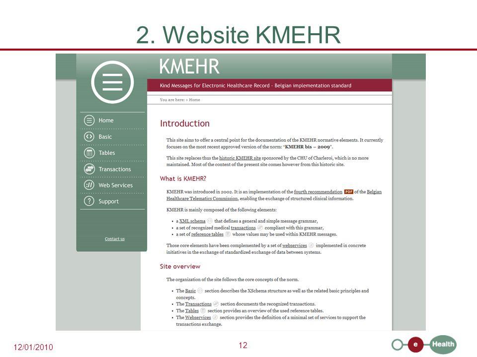 2. Website KMEHR