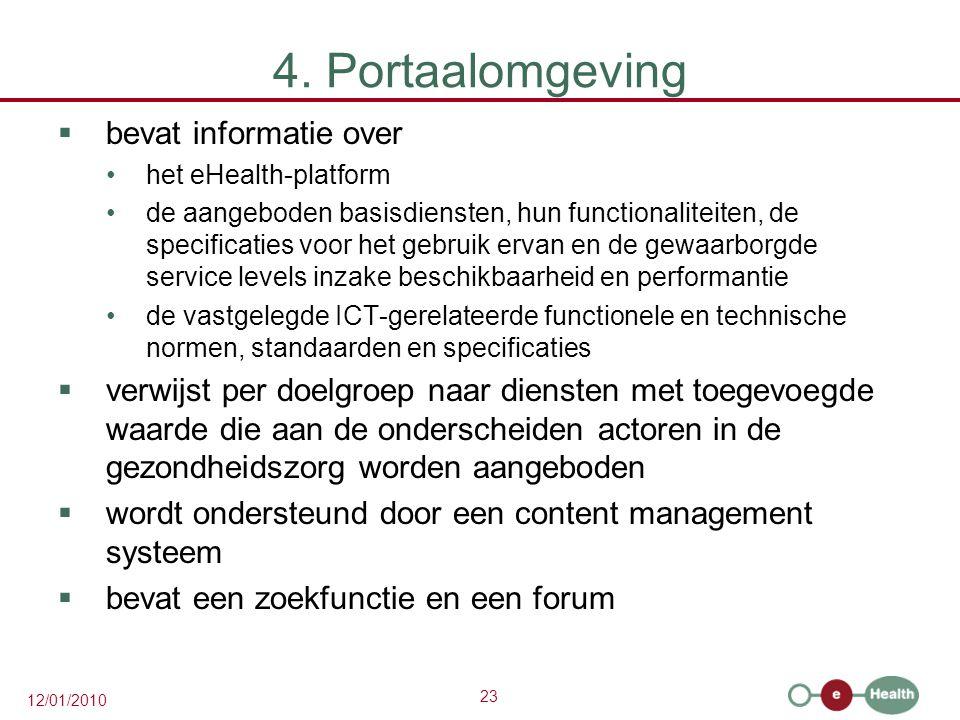 4. Portaalomgeving bevat informatie over