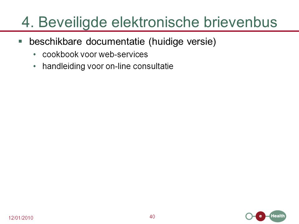 4. Beveiligde elektronische brievenbus