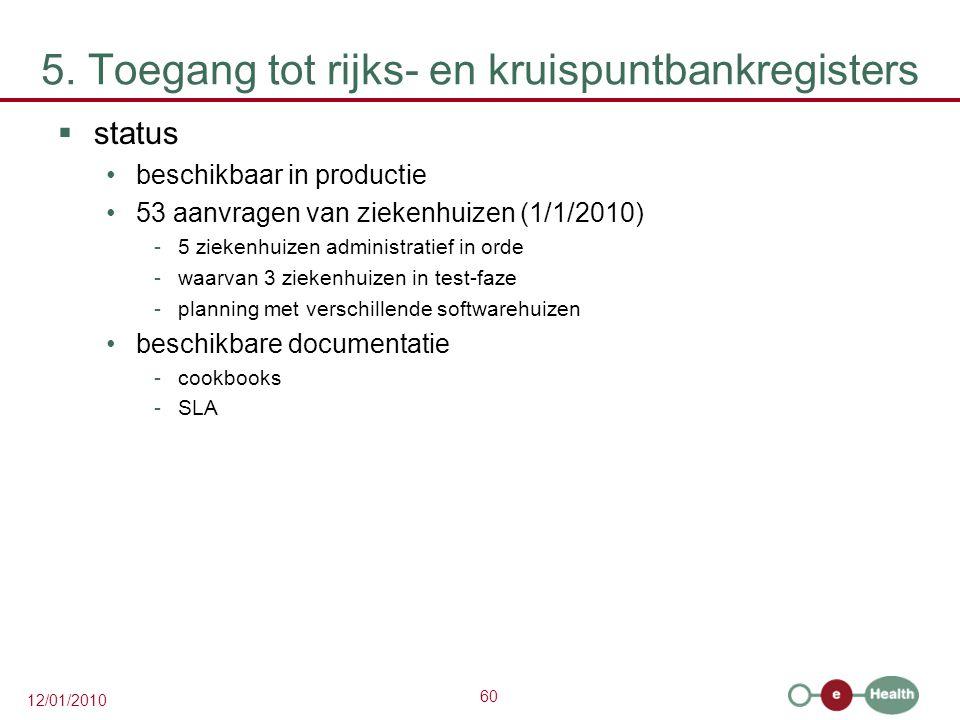 5. Toegang tot rijks- en kruispuntbankregisters