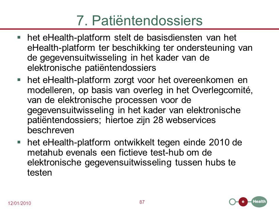 7. Patiëntendossiers
