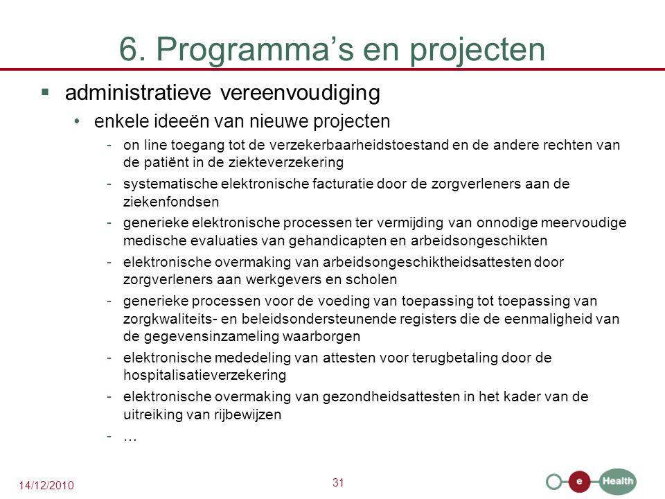 6. Programma's en projecten