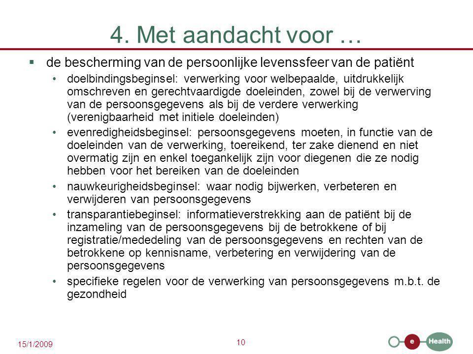 4. Met aandacht voor … de bescherming van de persoonlijke levenssfeer van de patiënt.