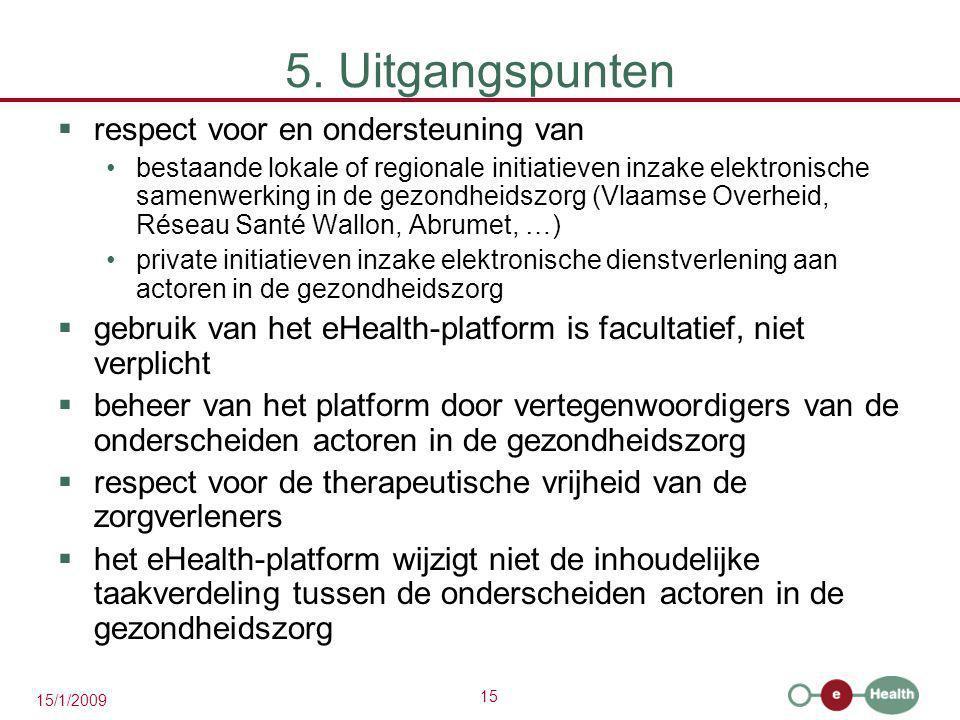 5. Uitgangspunten respect voor en ondersteuning van