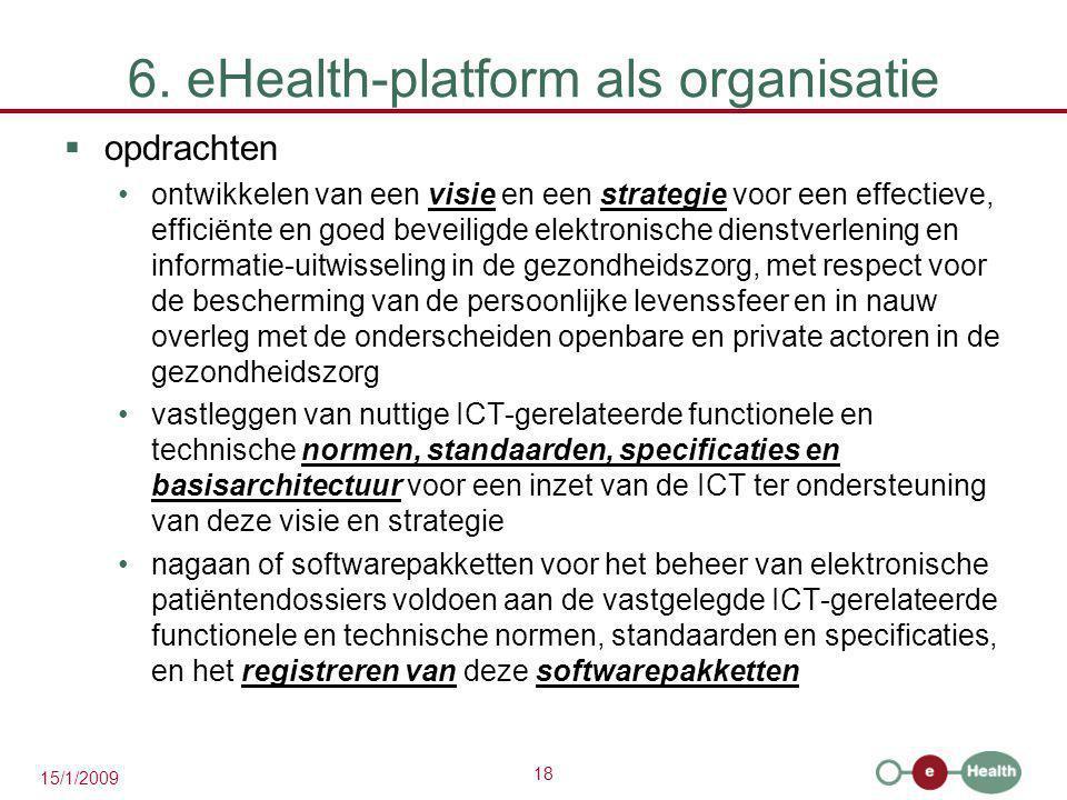 6. eHealth-platform als organisatie
