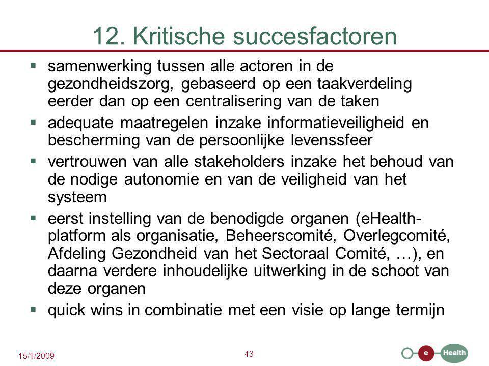 12. Kritische succesfactoren