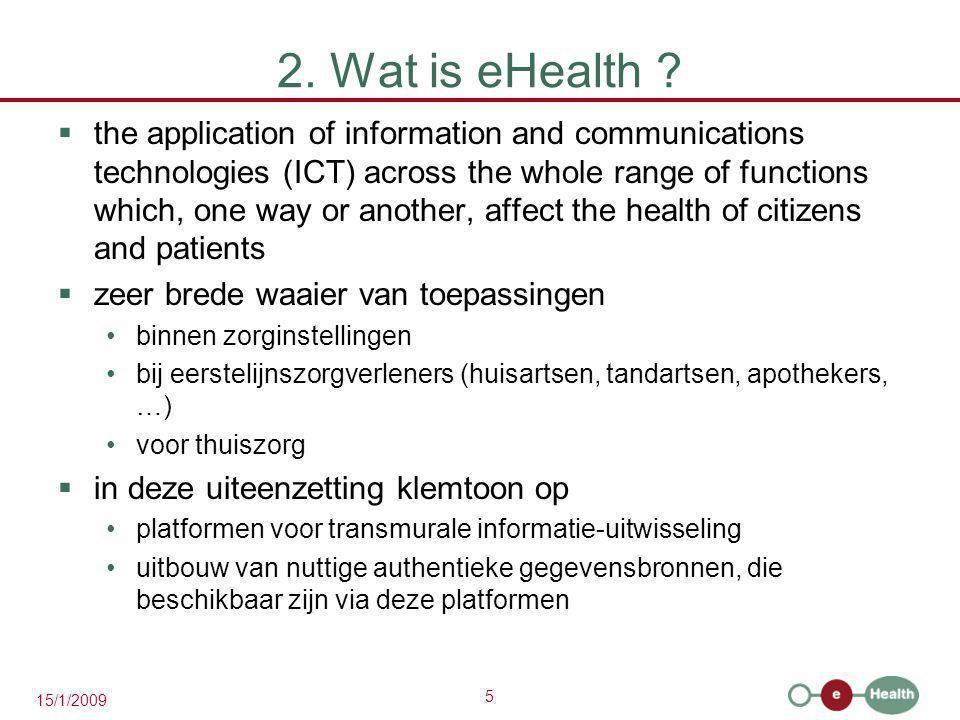 2. Wat is eHealth