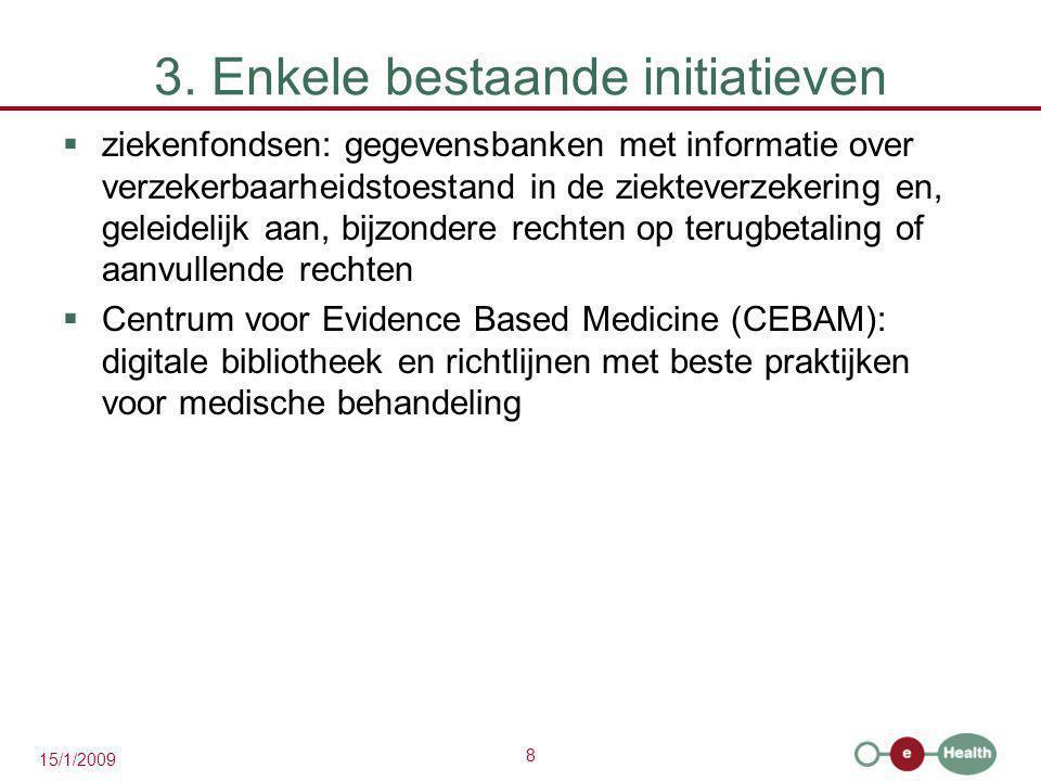3. Enkele bestaande initiatieven