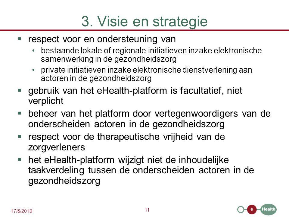 3. Visie en strategie respect voor en ondersteuning van