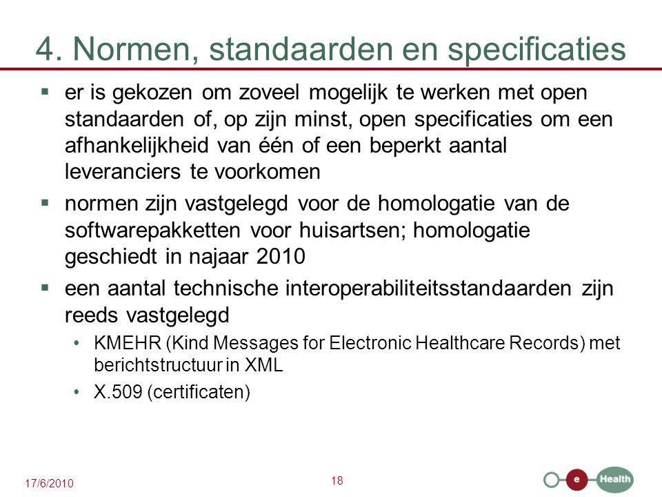 4. Normen, standaarden en specificaties
