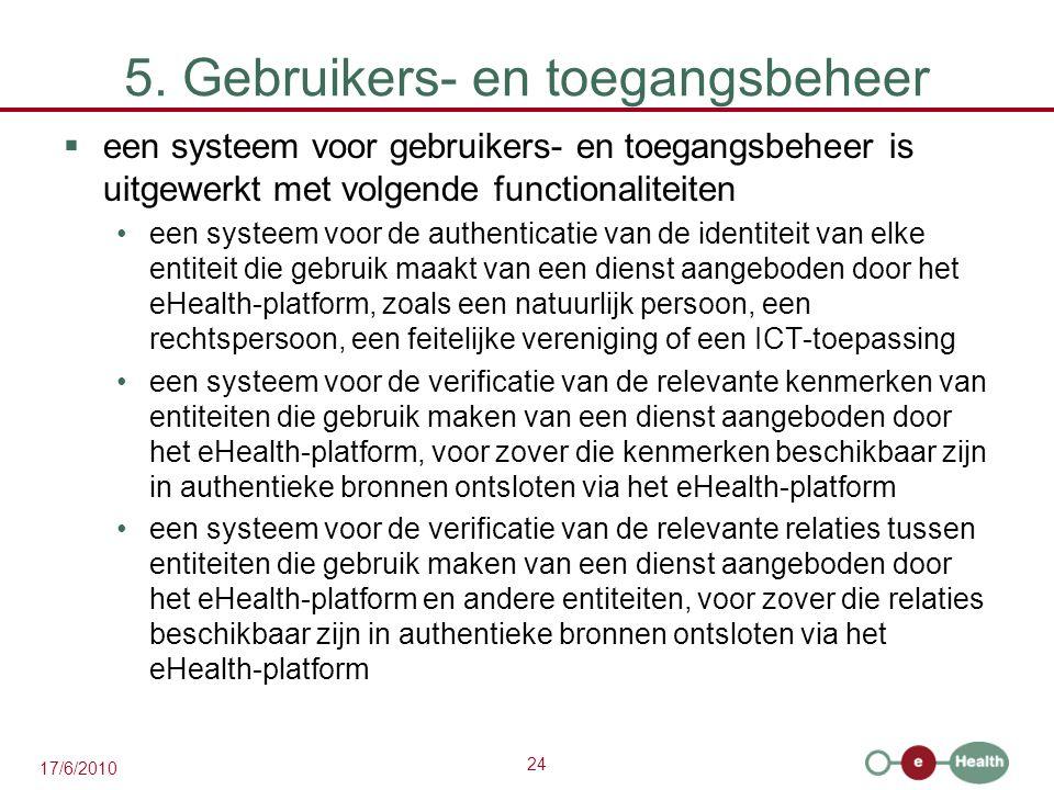 5. Gebruikers- en toegangsbeheer