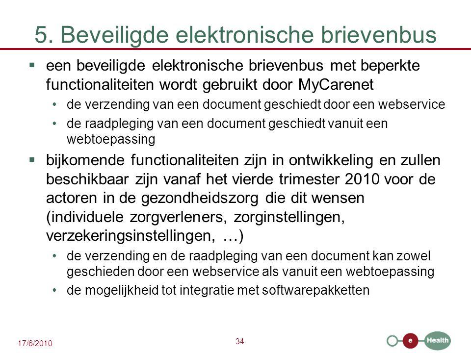 5. Beveiligde elektronische brievenbus