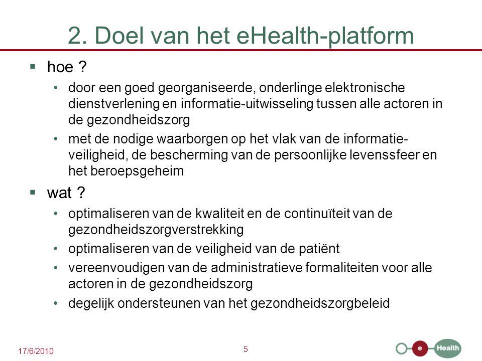 2. Doel van het eHealth-platform