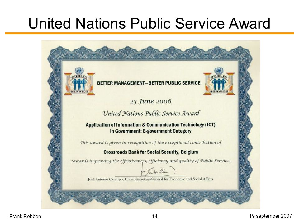 United Nations Public Service Award
