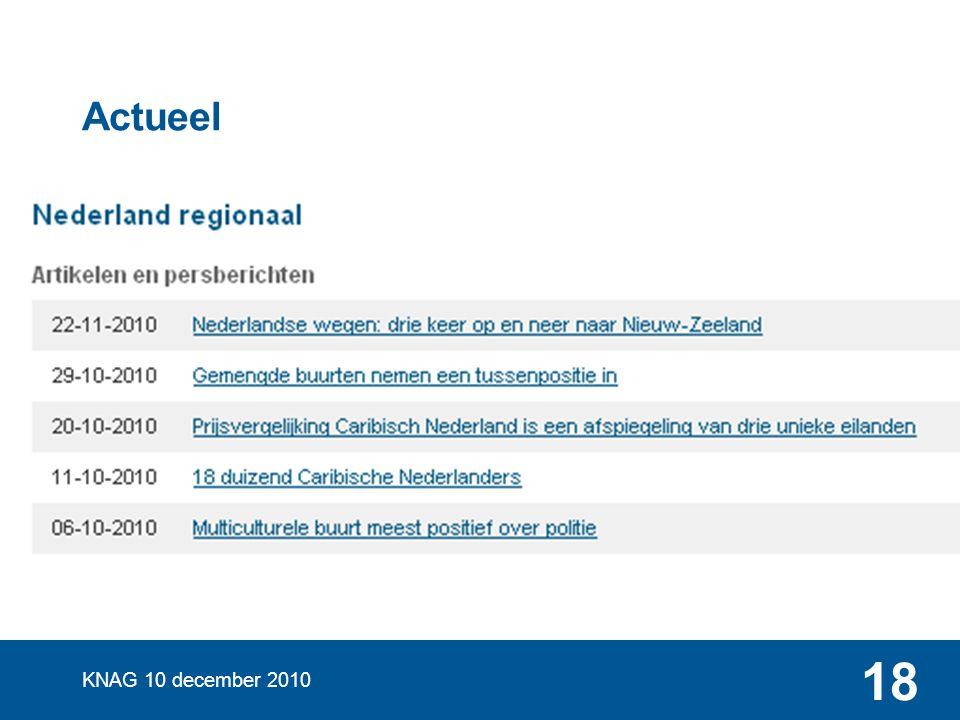 Regionale en Ruimtelijke Statistieken CBS