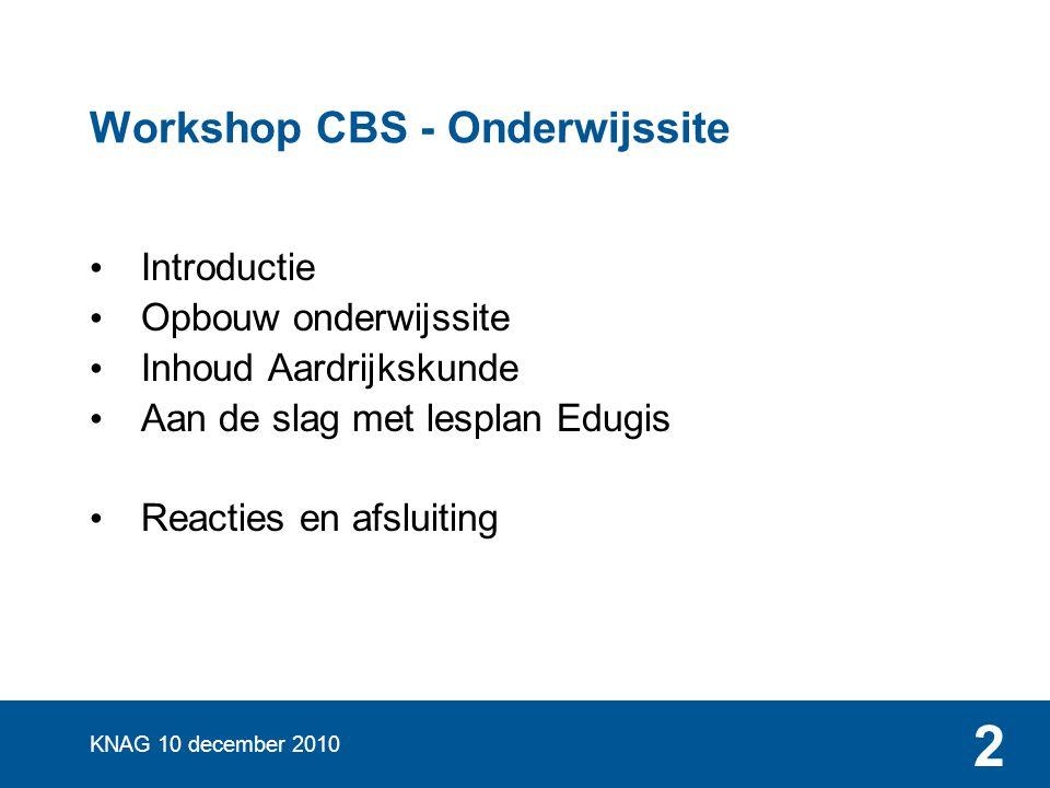 Workshop CBS - Onderwijssite