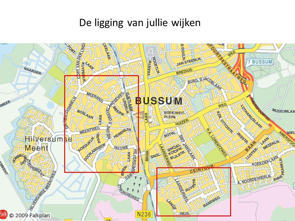 De ligging van jullie wijken