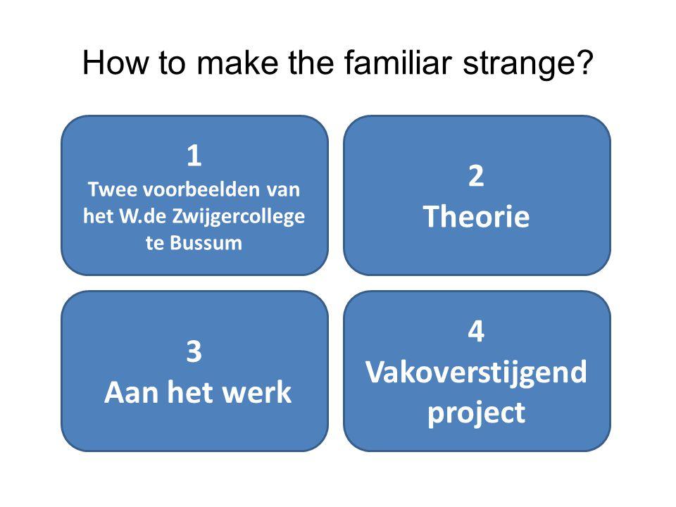 How to make the familiar strange