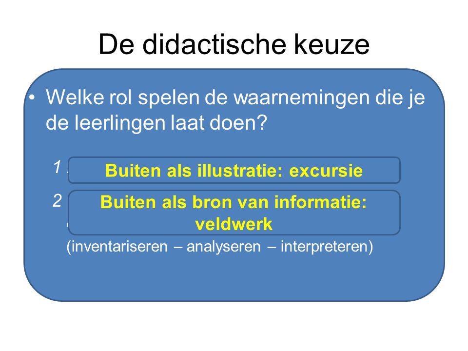 De didactische keuze Welke rol spelen de waarnemingen die je de leerlingen laat doen 1 bevestiging achteraf (deductief)