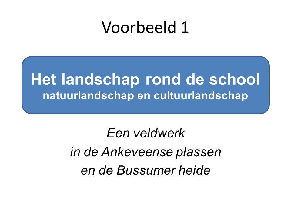 Het landschap rond de school natuurlandschap en cultuurlandschap