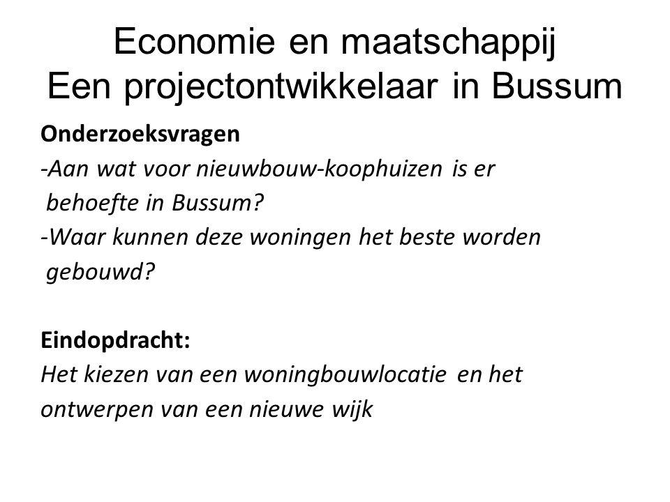 Economie en maatschappij Een projectontwikkelaar in Bussum