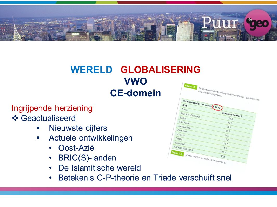 WERELD GLOBALISERING VWO CE-domein