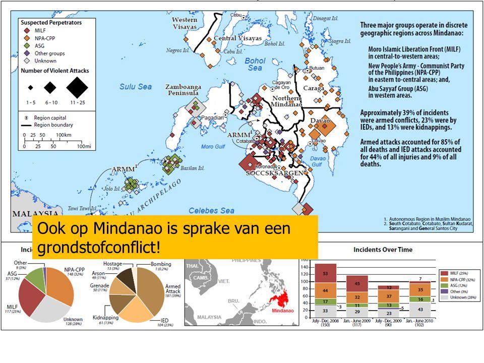 Ook op Mindanao is sprake van een grondstofconflict!