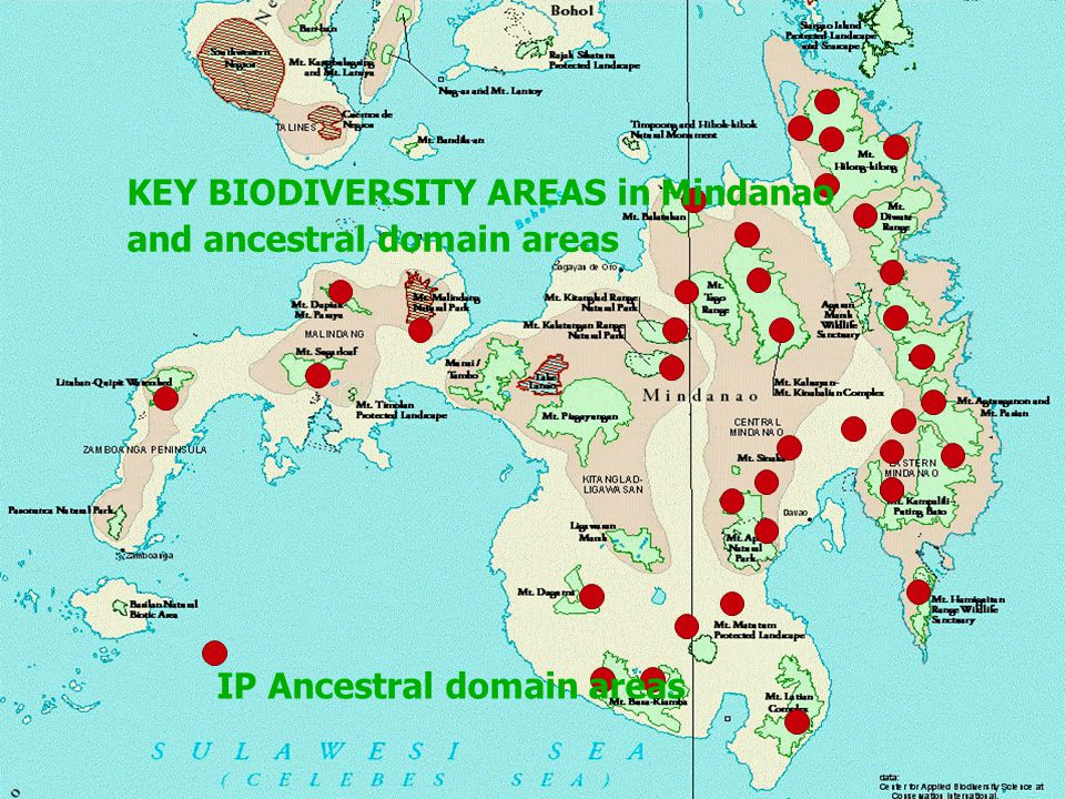 KEY BIODIVERSITY AREAS in Mindanao