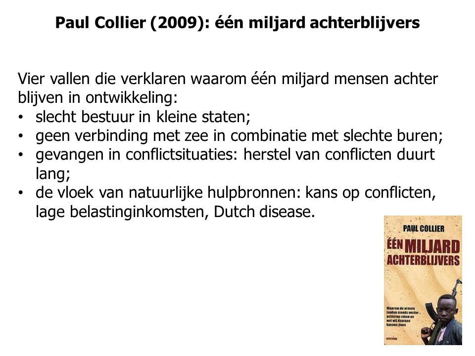 Paul Collier (2009): één miljard achterblijvers