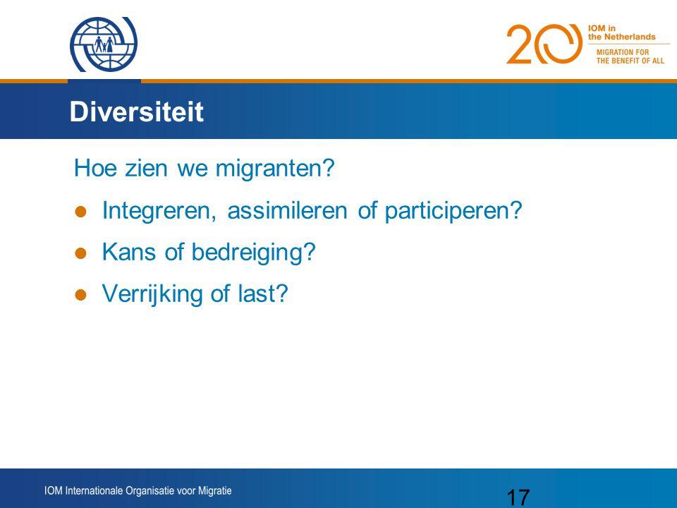 Diversiteit Hoe zien we migranten