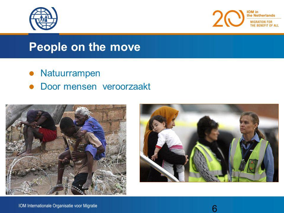 People on the move Natuurrampen Door mensen veroorzaakt