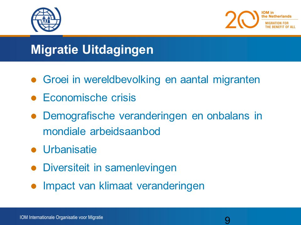 Migratie Uitdagingen Groei in wereldbevolking en aantal migranten